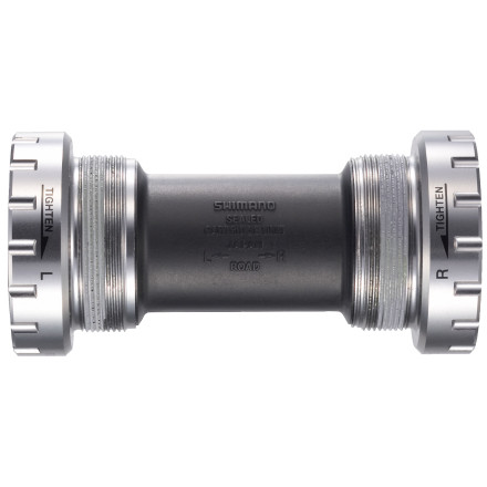 The Shimano Dura-Ace BB-7900 Bottom Bracket is a simple and straightforward component. You'll get two cups with low-drag, high-precision Dura-Ace bearings, plus a cylindrical dust cover that mates the two cups. What's the difference between the Dura-Ace BB-7900 bottom bracket and the previous generation BB-7800' The primary change is in the bearing seals -- they have a new design to reduce drag, to create smoother rotation, and to add durability. Available for either English (68) or Italian (70) threading. - $32.95
