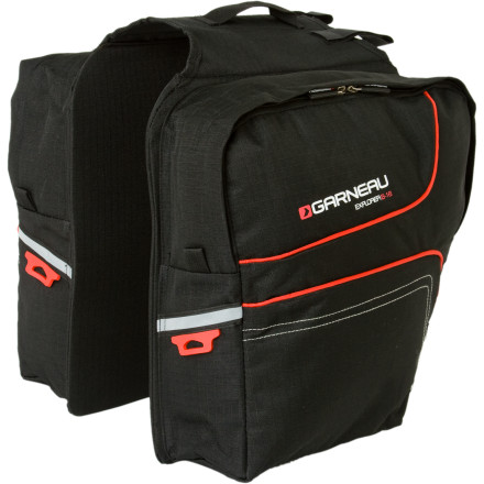 Fitness Whether youre commuting to work, riding to the store, or packing light for a tour, the Louis Garneau Explorer B-16 Cycling Panniers allow you to store the essentials without weighing down your ride.Burly water-resistant fabric helps protect your gear from soggy road conditions Slim profile helps keep you nimble in traffic Zip openings provide access to the main compartments Sixteen liters of total space provide enough room to pack gear for outings around town and for shorter recreational tours Reflective detailing and safety-light holder help keep you visible during night rides Compatible with virtually any rear bicycle rack - $29.95