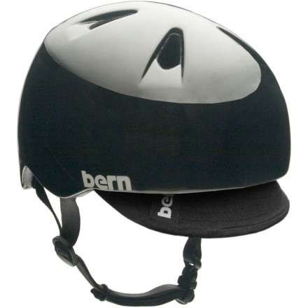 MTB Protect your accident-prone grom's head with the Bern Boys' Nino Helmet.Zip-mold technology uses a liquid injection method that fuses high-impact foam and a tough polycarbonate shell to protect his noggin Sink Fit features a low-profile configuration so the helmet fits around your head, not on top Two custom-fit goggle clip locations let you decide Air channel design provides ventilation and expels heat for maximum comfort Molded eyewear channel ensures a comfortable and unobstructed fit with goggles or sunglasses - $35.96