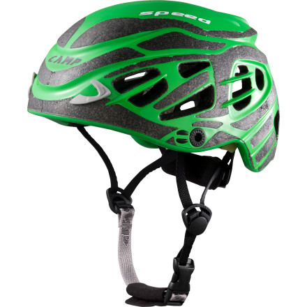 Climbing If it weren't for the photographic evidence of your adventure, you might forget that the  1/4ber-lightweight CAMP USA Speed Ski and Climbing Helmet was ever on your head. Weighing in at just 230 grams, the Speed is the lightest UI-certified helmet on the market. - $129.90