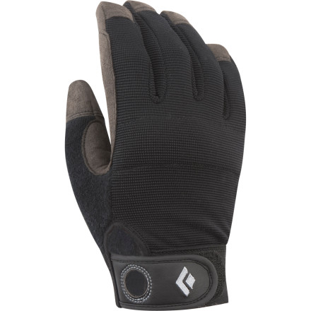 Climbing Belaying with a gloved hand is nice, but climbing with sweat-soaked hands is a bummer. Get the best of both worlds with the Black Diamond Crag Climbing Glove. The synthetic leather palm and fingers give you a sure grip while the breathable mesh fabric helps you stay dry and cool. - $19.95