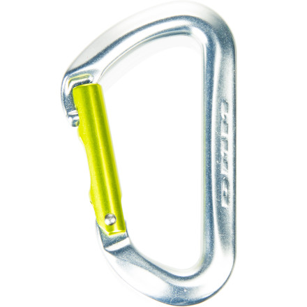 Climbing The DMM AERO Straight Carabiner is a burly biner at a budget price that's perfect for replenishing your rack or simply for setting up a backyard slackline. The shrouded nose reduces snags when cleaning, and the thumb groove on the gate makes it easy to handle. - $8.95