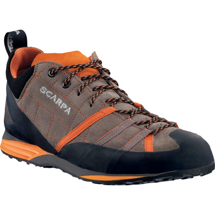 Climbing Pull on the Scarpa Gecko Guide Shoe for particularly slippery approaches. The Vibram Vertical Approach rubber sole will keep you upright and moving forward until it's time to put on the slippers. - $113.37