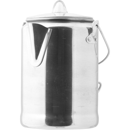Camp and Hike You're a dedicated coffee drinker (Did we say addict' No, we did not), so you always make sure to bring along the Coleman 9 Cup Aluminum Coffeepot when you pack up for your camping weekends. Tough, lightweight, and rust-resistant, this coffeepot includes a bail handle so you can easily pour a cup of Joe\227or two, or three .... - $16.95