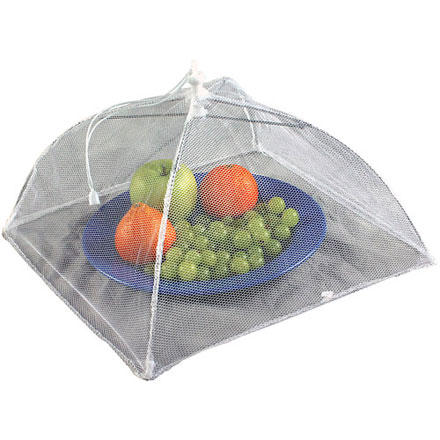 Camp and Hike Nothing is worse than watching flies crawl all over your freshly prepared lunch. The Coleman Food Cover keeps pests from ruining your meal. The screen cover opens easily so you can snack to your heart's content. - $3.45