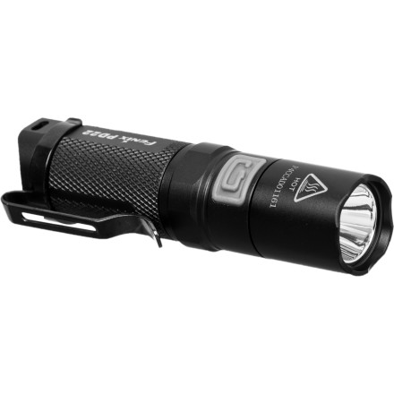 Camp and Hike For a powerful light source that can fit in your pocket, glove box, or survival kit, look no further than the Fenix PD22 Flashlight. Despite being powered by a single CR123A battery, the PD22 can cast a powerful beam 331 feet into the darkness with a maximum 190 lumen output. Buttons on the handle and tail cap allow you to operate the light from multiple holding positions and four brightness levels supply a wide range of burn times and power outputs. - $54.95