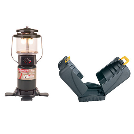 Camp and Hike The Coleman Deluxe PerfectFlow Lantern with Hard Carry Case provides up to 14 hours of light around camp or at your backyard barbecue. Its PerfectFlow technology ensures consistent light output regardless of the weather, and the adjustable brightness level lets you dial in the perfect mood lighting for any occasion. Designed to be used with a 16.4-ounce Coleman propane cylinder (not included), this two-mantle lantern lights with matches and features a stable base with retractable feet that stow away easily. Coleman included two No. 21 mantles as well as a hard case for for easy transport. - $44.95