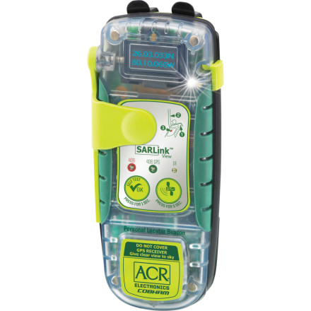 Camp and Hike The ACR Electronics SARLink View 406 Personal Locator Beacon has the identical features to its fraternal twin (the SARLink 406 PLB) with one main difference; a digital display window. Youll have the same confidence on any adventure knowing that emergency rescue is just a push-button away, with the ability to view critical data. - $479.99