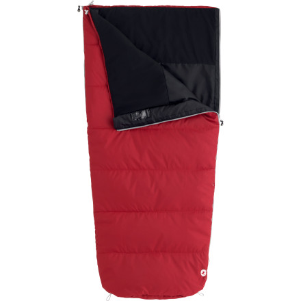 Camp and Hike Your kid is too old for that cartoon character-decorated cotton bag but is not quite ready to rock a six-foot mummy bag either. The Marmot Kids' 40 Degree Synthetic Mavericks 40 Semi Rec Sleeping Bag fills the gap between a sleepover sack and the grown-up bag. It's perfect for good-weather camping or sleepovers with the friends. The snagless draft tube stops heat from leaking out, and he or she can open and close the zipper without getting it caught on the baffle. Two-way zippers let them control how much fresh air comes in, and 'Feely' draw cords are easy to find and pull when extra warmth is needed. - $41.37