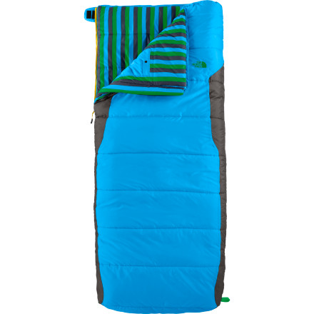 Camp and Hike Whether you're squeezing in a family camping trip over a long weekend or just dropping your kid off at Friday-night sleepovers, be sure to pack The North Face Kids' Dolomite 3S Bx Sleeping Bag. This versatile bag is packed with Heatseeker insulation for comfort both in the tent and on the backyard trampoline. - $88.95