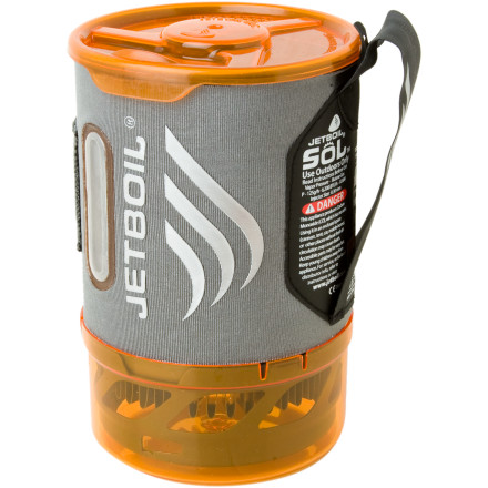 Camp and Hike An upgrade on all fronts, the Jetboil Sol Stove weighs ounces less than Jetboil's past cooking systems and provides unwavering performance in temperatures down to 15 degrees Fahrenheit. These improvements are thanks to the Thermo-Regulate Burner Technology, which easily achieves Jetboil's trademark two-minute boiling time and also features a push-button igniter, adjustable flame, and safe, lock-in aluminum cup. - $119.95