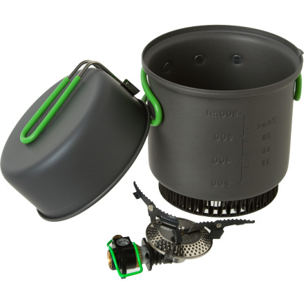 Camp and Hike Disappear into the mountains with the Optimus Crux Stove with the Terra Weekend HE Cook Set. Compact and efficient, the Crux incorporates a folding stove, saucepan with pouring lip, fry pan, storage bag, and neoprene sleeve to accommodate all your backcountry cuisine needs. - $79.95