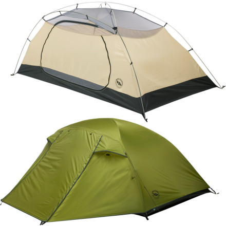 Camp and Hike The Lynx Pass 2-Person 3-Season Tent provides a camping duo plenty of floor space in a lightweight design. This tent sets up easily, and an extra-large oval door makes getting in and out less of an acrobatic challenge. - $149.96