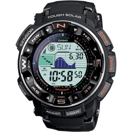 Entertainment Wearing the Casio PRW2500-1V Triple Sensor Altimeter Watch is like having a super-computer wrapped around your wrist. You'll feel like a secret agent as soon as you put it on. - $250.00