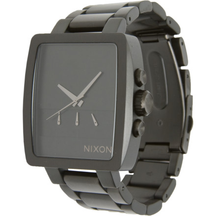 Entertainment Hesh, fresh or somewhere in-between, the Nixon Axis Watch is both simple and devastatingly dapper; a unique vertical chronograph, blacked-out face, and sturdy stainless steel construction make the Axis worthy of all styles and all scenarios. - $149.97