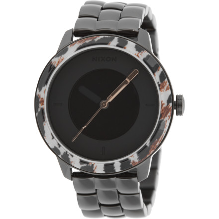 Entertainment The Nixon Women's Divvy Watch conveys a cool elegance that takes root in the genetics of the design. From the finest lines to the broad and simple face, the Divvy pays homage to simplicity while maintaining a forward-looking sense of progressive style. Fellow intelligent party-goers will admire a smooth silhouette, then also compliment you on your taste in timepieces. - $129.97