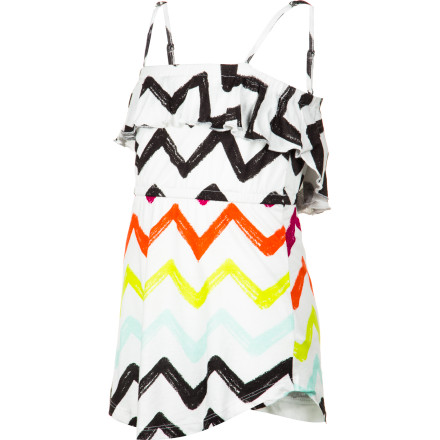 Surf With a flirty top ruffle and sporty stripes, the Billabong Girls' Sometimer Dress is all-the-time fun. A summer dress with this much pretty pep is sure to bring on the smiles. - $29.45