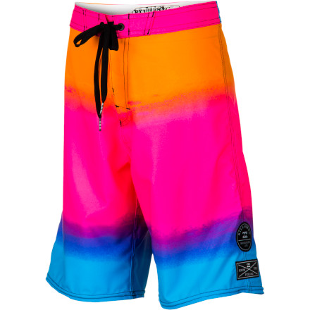 Surf He may not know what 'retro' means yet, but he's sure to love the '80s-inspired neon colors on the Billabong Iconic Boys' Board Short regardless. It's made with a four-way stretch fabric to ensure freedom of movement when swimming, surfing, or just hanging out, because life is better in board shorts. - $50.53