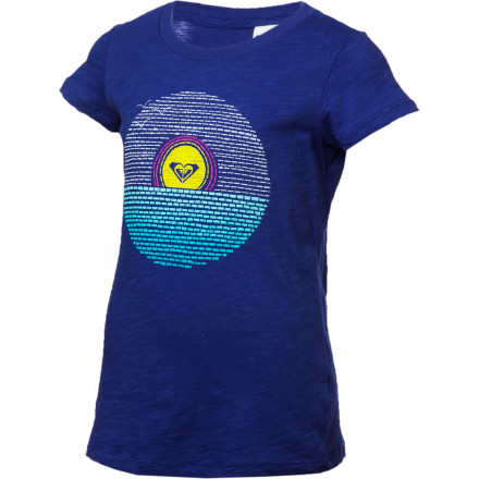 Surf Bold hues, sunny graphic, and the everyday comfort of all-cotton slub jersey make the Roxy Girls' Rigged Up T-Shirt a surefire winner in the park, at the beach, or chilling on the couch. The T-shirt is here to stay as a casual staple, and this pretty version punches up the fun factor. - $18.00