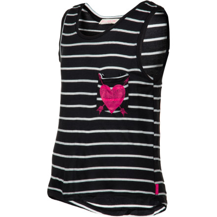 Surf They call it the Billabong Sweet Dreamin Girls' Tank Top because it's so comfortable she could sleep in it. The polyester and rayon blend fabric is so soft she may ask you to pinch her to make sure she's not dreaming. - $17.96