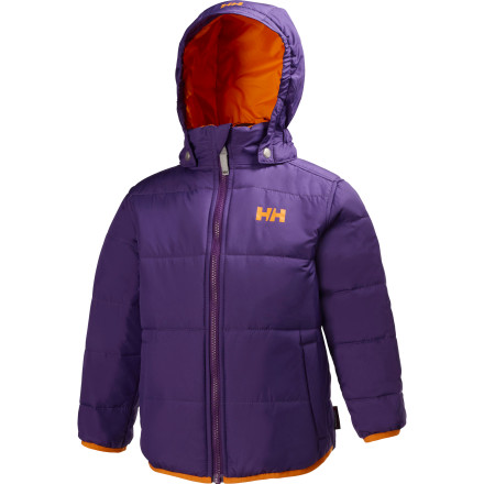 Ski The effect of the Helly Hansen Toddler Girls' Synergy Jacket is greater than the sum of its parts. Warm and toasty high-loft insulation, plus a windproof, breathable exterior, plus two-colors-in-one reversibility equal infinite winter fun. Here's to cozy warmth, bright colors, and happy days. - $64.97