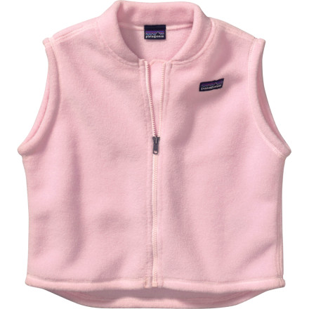 You're looking for a soft fleece vest to warm your infant's core without restricting arm movement, and, while you're at it, you'd really like to have one that's made with earth-friendly fabrics, please. Grab the Patagonia Infants' Baby Synchilla Vest. Patagonia made this comfy fleece vest with 85% recycled polyester. After your babe grows out of the Synchilla, recycle it through Patagonia's Common Threads program. - $45.00