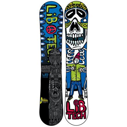 Snowboard Lib Tech designers used a shrink ray on the full-sized Skate Banana to create the Kids' Lib Ripper Skate Banana BTX Snowboard. This ensures that your grom gets the same catch-free, versatile ride that made the OG Banana a superstar. - $203.97