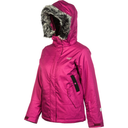 Snowboard Normally your gal begs for hot cocoa breaks, but not when she's equipped with the Orage Girls' Marin Jacket. Comfy insulation, taped critical seams, and chill mountain appearance keep her cozy, happy, and lookin' fly while she navigates the slopes. - $76.00