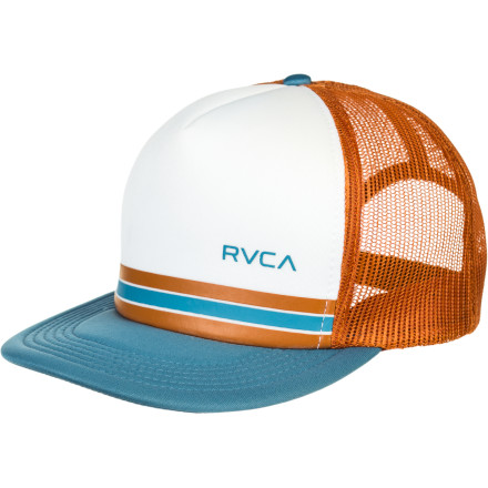 Cap your beautiful brain holder with the RVCA Barlow Trucker Hat because until you get the plastic plate replaced by a metal one, you need at little extra something up there. It's not the brain cells you worry about, you just don't want to be forever known as Carter Crater. - $19.95
