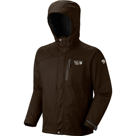Join the elite, the Dry Elite: shelter yourself with the weather-resistant, super-breathable Mountain Hardwear Men's Ampato Jacket, with durable, double-layer Dry.Q Elite fabric, cooling mesh lining, and fine-fitting hood. In the rain, snow, or sleet, on the mountaintop or lakeside, you'll feel simply privileged to be warm and dry. - $137.47