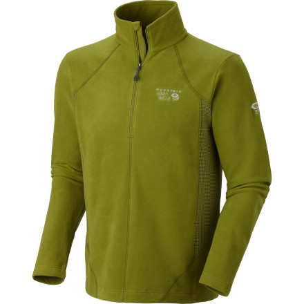 Light, soft, and strong, the high-tech and stretchy Mountain Hardwear Men's Microchill Tech Zip-Top Jacket warms you up and lets you move. Its high collar and ample zip-neck gives you climate-control options when you're working hard or the temps drop. And with flatlock seams that won't chafe, this jacket is not just soft but a smooth operator. - $55.22