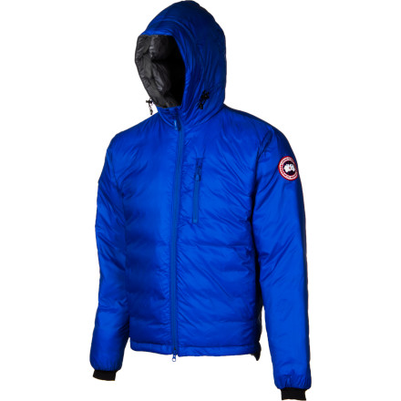 Hunting Show your support for Polar Bears with the Canada Goose Men's Polar Bears International Lodge Hooded Down Jacket. Built with the same top-shelf materials and craftsmanship as Canada Goose's other legendary jackets, the PBI Lodge provides extra warmth on mild winter days, and a portion of proceeds are earmarked to help Polar Bears International fulfill its mission to preserve Polar Bear habitat. - $499.95