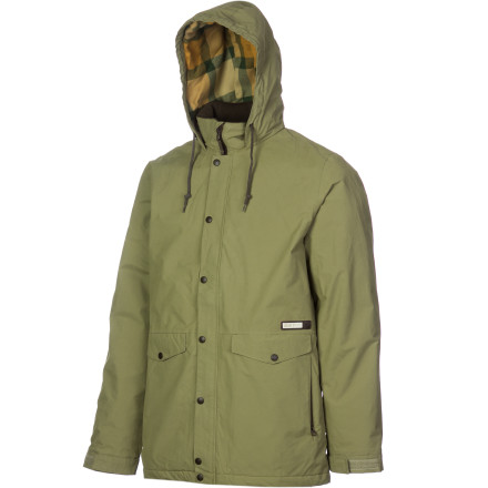 Snowboard The Burton Wolf Insulated Jacket works just as well for taking park laps as it does for tracking exotic cougars in the late evening hours. Storm-resistant fabric and plenty of insulation keep you stoked when the wind starts whipping and temperatures plummet. - $59.98