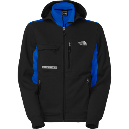 The Men's ST Agent Hooded Jacket is a new addition to The North Face's legendary Steep Tech line of apparel, but it's already rocking a little bit of throwback color blocking and style. Keep this thick fleece hoody handy for kicking back on a chilly resort deck or traveling to cold parts of the world. - $103.96