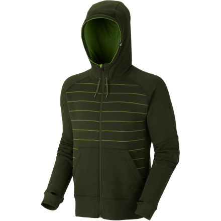 The humble hoodie: an irreplaceable staple in every guy's wardrobe. Add another to your quiver with the Mountain Hardwear Kevalo Full-Zip Hooded Sweatshirt. Cipher fleece gives this zip-up a soft hand and a technical edge while thumb loops and flatlock seams elevate hoodie comfort. - $42.48