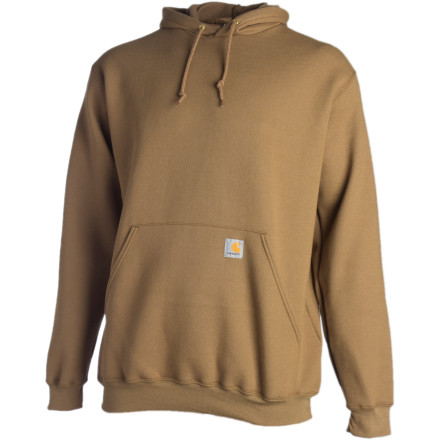 Wear the Carhartt Men's Midweight Hooded Pullover Sweatshirt and show them you're the man for the job. The embroidered Carhartt logo on the chest says a lot about your work ethic if you're a man of few words. This relaxed-fit hoody has a fleecy feel and a front hand-warmer pocket that you'll appreciate when the sun goes down. - $41.95