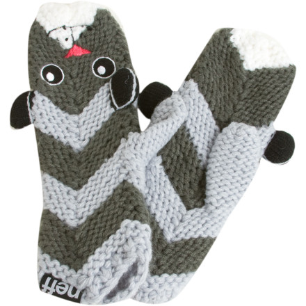 Fitness Next time you run into your ex in the lodge, just pretend to have a heated argument with one of your Neff Anamit Mittens to avoid a potentially awkward situation. They'll keep right on walking, trust us. - $13.98