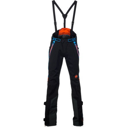 Ski The Men's Mammut Nordwand Pro Pant is designed to perform in the theater of difficult ice and alpine climbs. The 3-layer Gore-Tex Pro shell fabric is guaranteed to be waterproof and breathable for total protection in winter conditions while the zippered drop seat allows you to take care of business without having to completely disrobe in an exposed alpine area. You'll really appreciate the reinforced insteps that keep the pant bottoms from being shredded  by crampons and ski edges. - $524.95