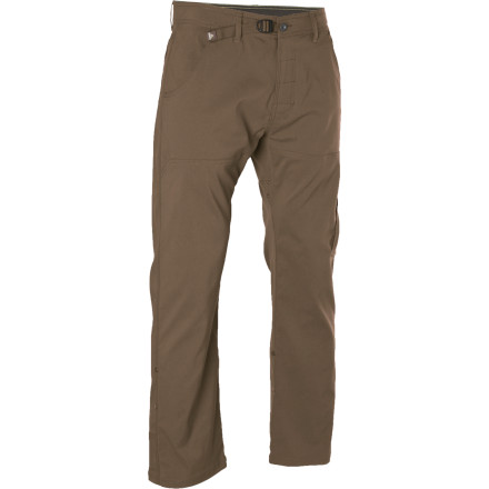 Climbing Whether you're scrambling up some boulders to go cliff jumping, or just positioning yourself to get the action shot of the next jumper, the prAna Men's Stretch Zion Pants can keep up with your adventurous personality. These pants come with a gusseted crotch and stretch nylon fabric, which provide a natural range of motion for all your rock-navigating movements. - $52.47