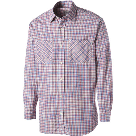The Carhartt Men's Lightweight Plaid Long-Sleeve Shirt mixes a classic, chill style and Carhartt's hardy construction so you get a great look that you can rock for years. - $17.48