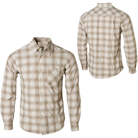 Entertainment Ditch the cotton and make a play for the Royal Robbins Bridgeport Plaid Long-Sleeve Shirt. Its blend of synthetic fibers fights wrinkles, wicks moisture, and blocks UV rays like a true travel shirt should. - $57.95