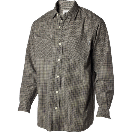 Throw on the Carhartt Plaid Long-Sleeve Shirt  when you want a relaxed, clean style that keeps you looking good whether you're spending a weekend in the hills or hitting the local bar for a beer. - $24.47