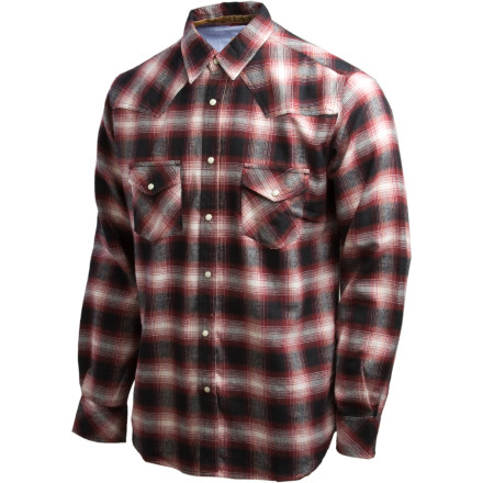 As winter creeps down the mountain to your cozy cabin, put on the Dakota Grizzly Keaton Flannel Shirt and finish chopping up the tree that will keep you warm at least through March. A warm cotton flannel like the Keaton does wonders as you work in the crisp late autumn air thanks to its button-up front and easily roll-able sleeves, and once you finish doing your man-chores head into the one-room log hut for a bowl of chili made by the greatest woman on the planet. - $45.47