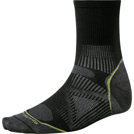Fitness You spent an obscene amount of money on those fancy running shoes, so why would you run in  a pair of cheapo socks that eliminate any good that the shoes are doing for your feet. The Smartwool PhD Running Ultra Light 3/4 Crew Sock has an advanced degree in comfort and support to work with your high-dollar running shoes and provide increased performance with reduced fatigue. - $12.53