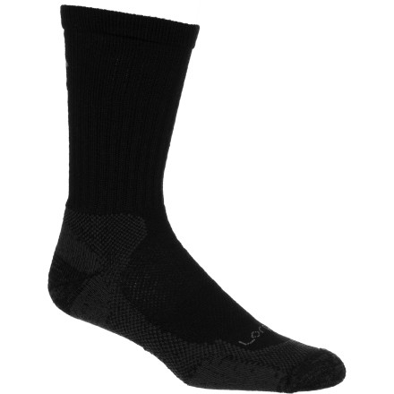 Camp and Hike The classic styling and fit of the Lorpen Merino Light Hiker Crew Sock suits anyone looking for a durable, breathable sock that won't lose shape after extended use. And, the best part is that you get a double-dose with this two-pack to let you switch to a fresh pair mid-weekend on a backpacking trip or once you reach your destination after a day filled with planes, trains, and automobiles. - $11.97