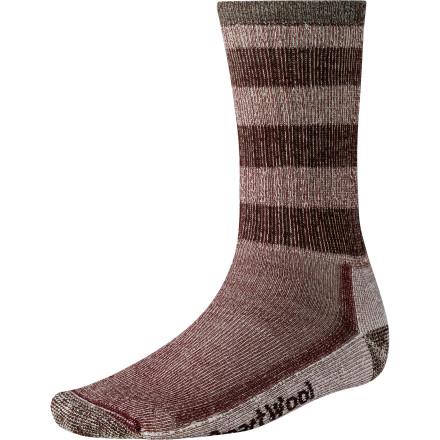 Camp and Hike It says Hiking in the title, but don't think that you'll leave the Smartwool Hiking Midweight Crew Sock in your sock drawer until it's time to hit the trail. At first you might try, but before long you'll rearrange your laundry schedule around this ultra-comfortable, supportive sock. - $13.93