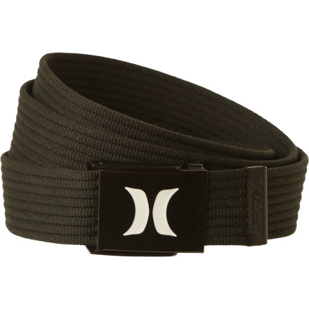 Surf The Hurley Ribbed Web Belt is ribbed for your pleasure. - $13.95