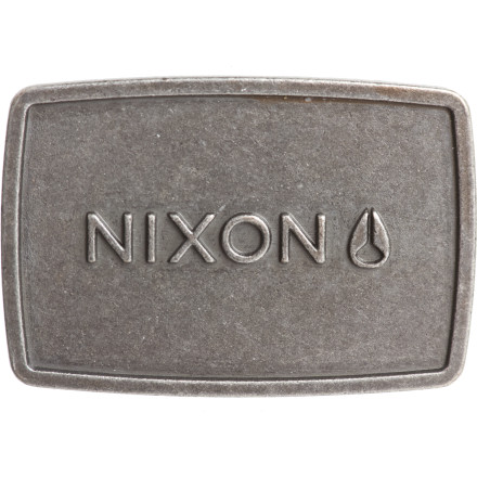 Show the man that you mean biznaz when you rock the Nixon Men's Wordmark Raw Buckle. - $7.48