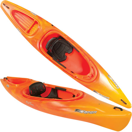 Kayak and Canoe Paddling an unwieldy kayak built for a lumberjack is a drag. The Old Town Vapor 12S Kayak has a slimmer width for the leaner paddlers of the world. And its stable, 12-foot length tracks smoothly and has plenty of storage space for all-day outings. A contoured seat and foot brace add comfort to your sporty adventure. - $499.95