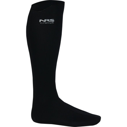 Kayak and Canoe The NRS Boundary Sock is a high cut neoprene sock that is waterproof and warm, to be worn with sandals, or rubber boots when you're concerned about water getting in. 3mm thick neoprene fabric has fully-taped seams to keep water from seeping through, and a HydroCuff seal holds the sock up to it's 18in height. - $74.95